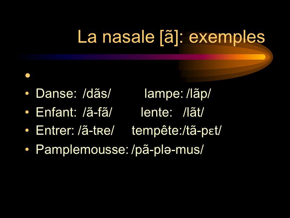 La nasale [ã]: exemples